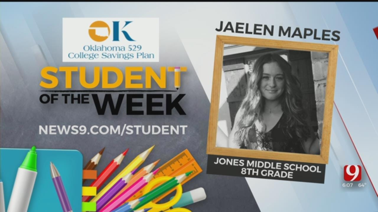 Student Of The Week: Jaelen Maples, Jones Middle School