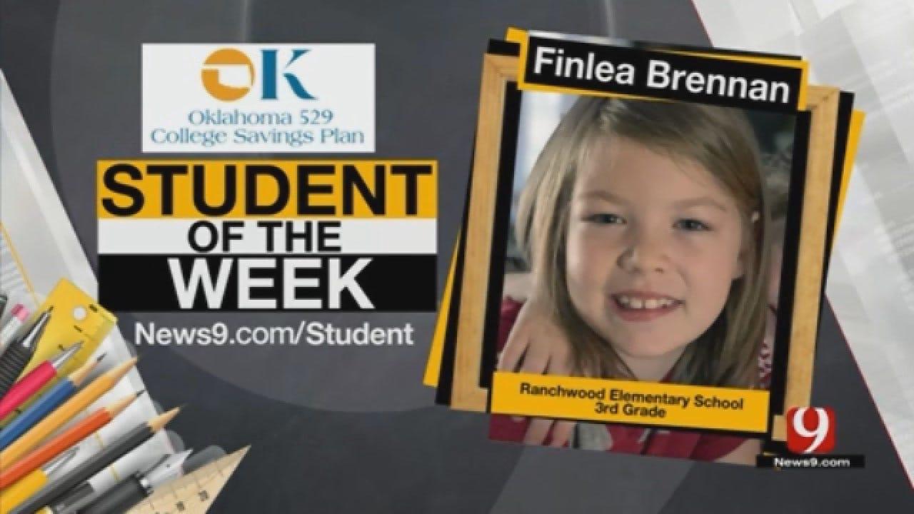 Student Of The Week: Finlea Brennan From Yukon Public Schools