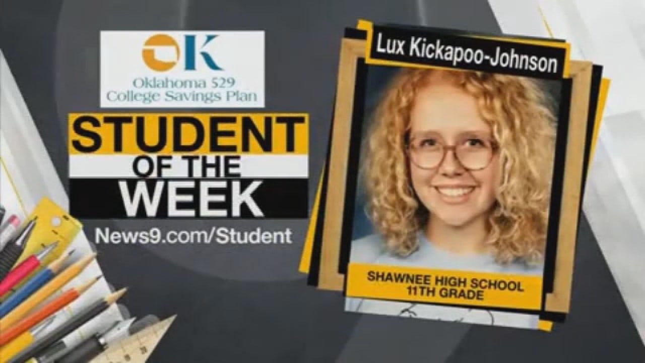 Student Of The Week: Lux Kickapoo-Johnson From Shawnee Public Schools