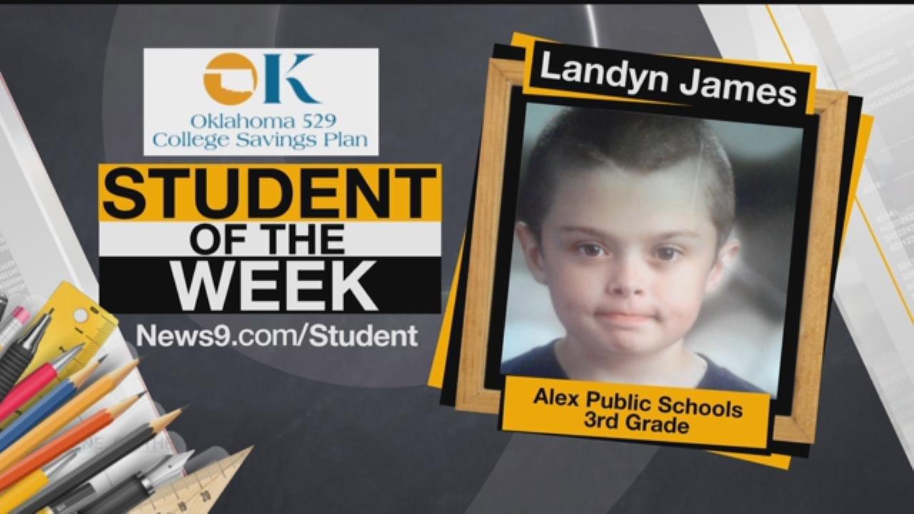Student of the Week: Landyn James From Alex Public Schools