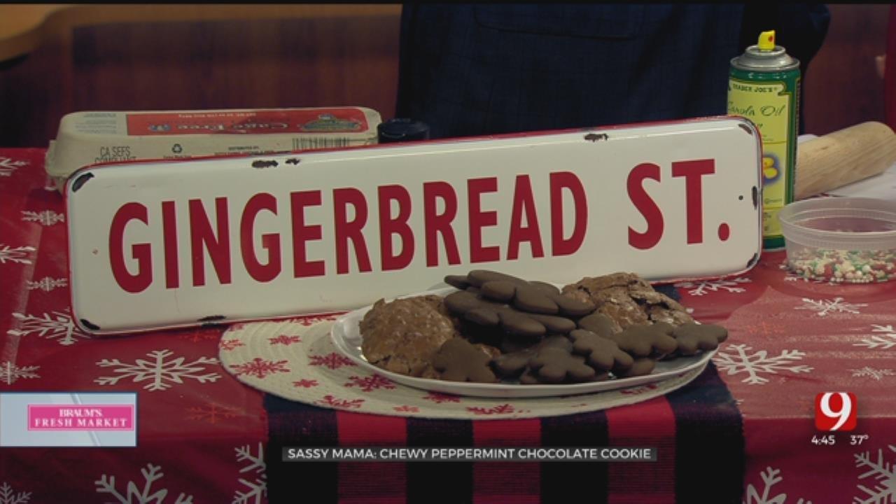 Chewy Peppermint ChocolateCookie