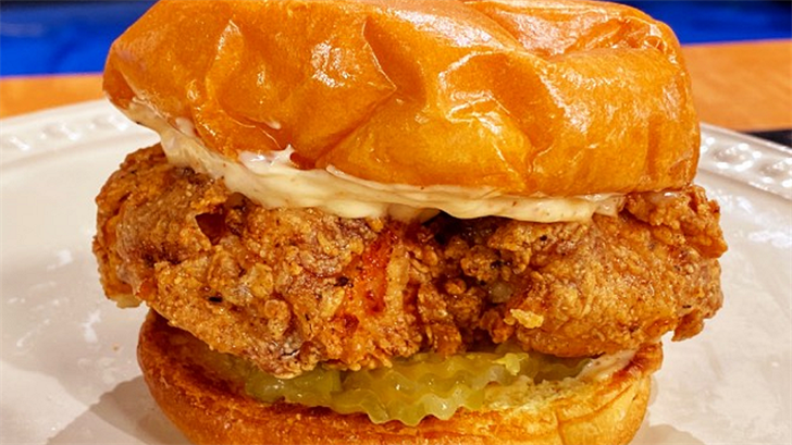 Fried Chicken Sandwich with Cajun Mayo