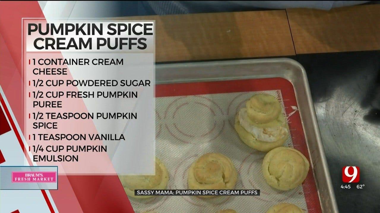 Pumpkin Spice Cream Puffs