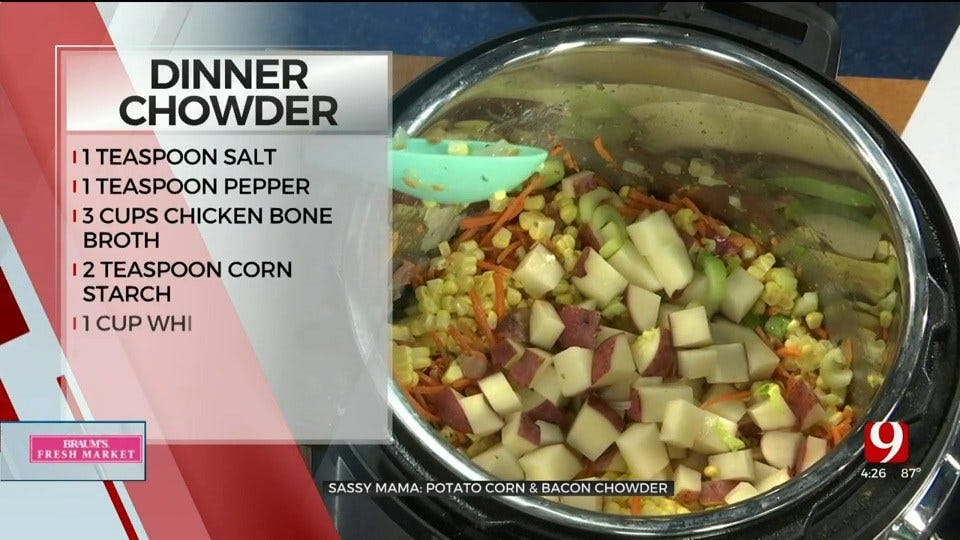 Potato Corn & Bacon Chowder