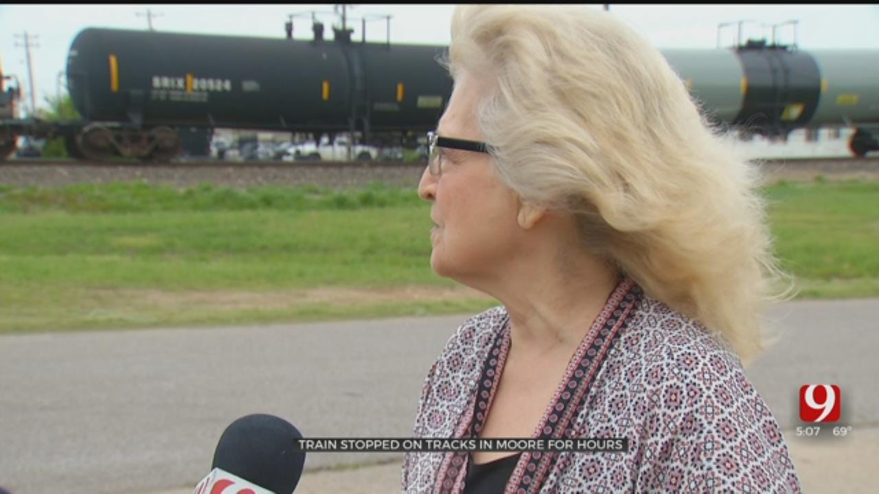 Moore Residents Frustrated After Train Stuck On Tracks For Over 24 Hours