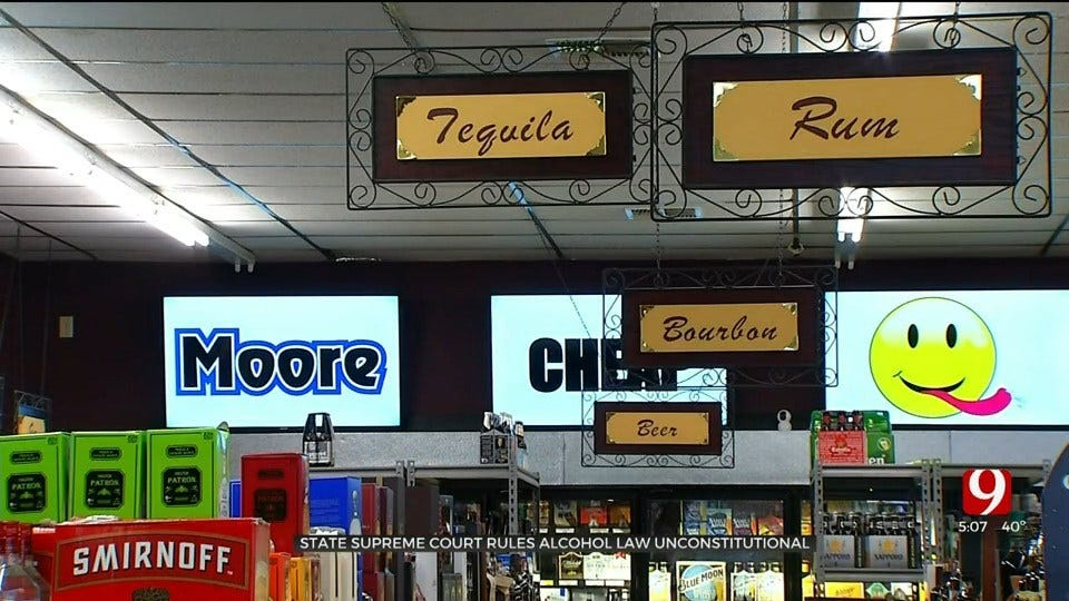 Oklahoma Supreme Court Rules Alcohol Law Unconstitutional