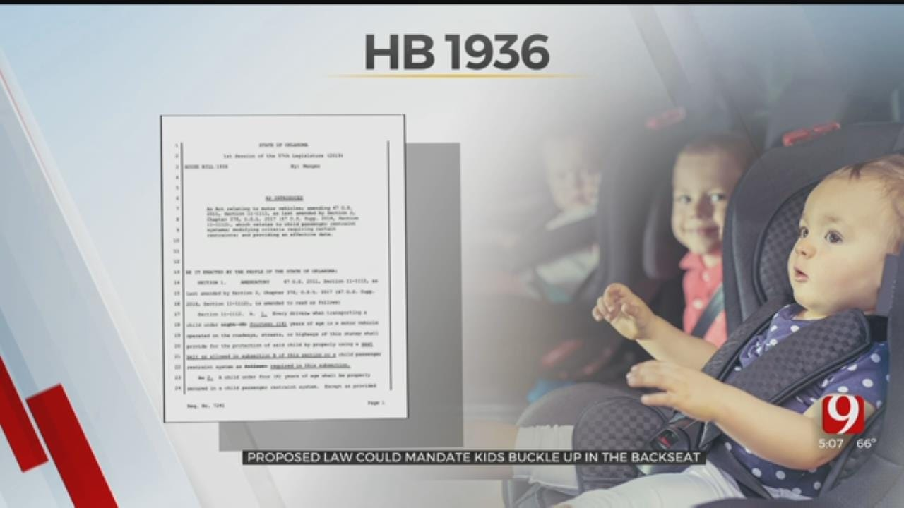 Proposed Oklahoma Law Could Mandate Children In The Back Seat To Wear Seat Belt
