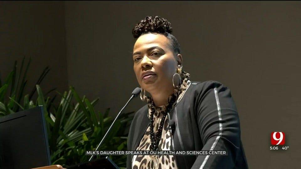 MLK Jr's Daughter Speaks At OU Health Sciences Center