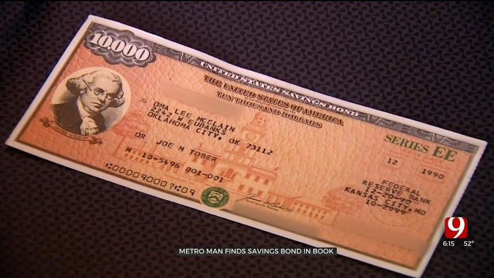 Man Finds $20K Bond In Used Book, Tracks Down Rightful Owner