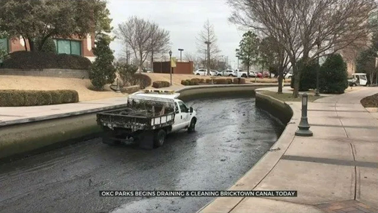 OKC Parks To Begin Draining, Cleaning Bricktown Canal