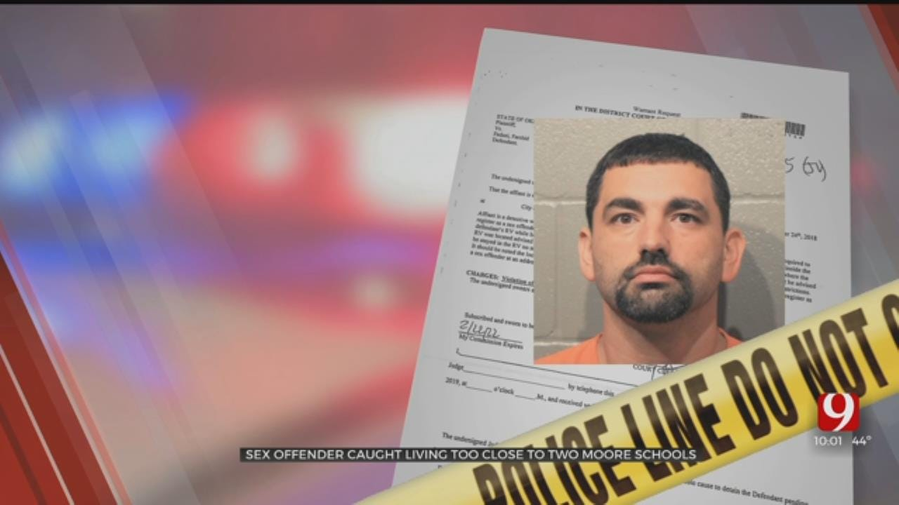 Sex Offender Arrested, Accused Of Living Too Close To Moore Schools