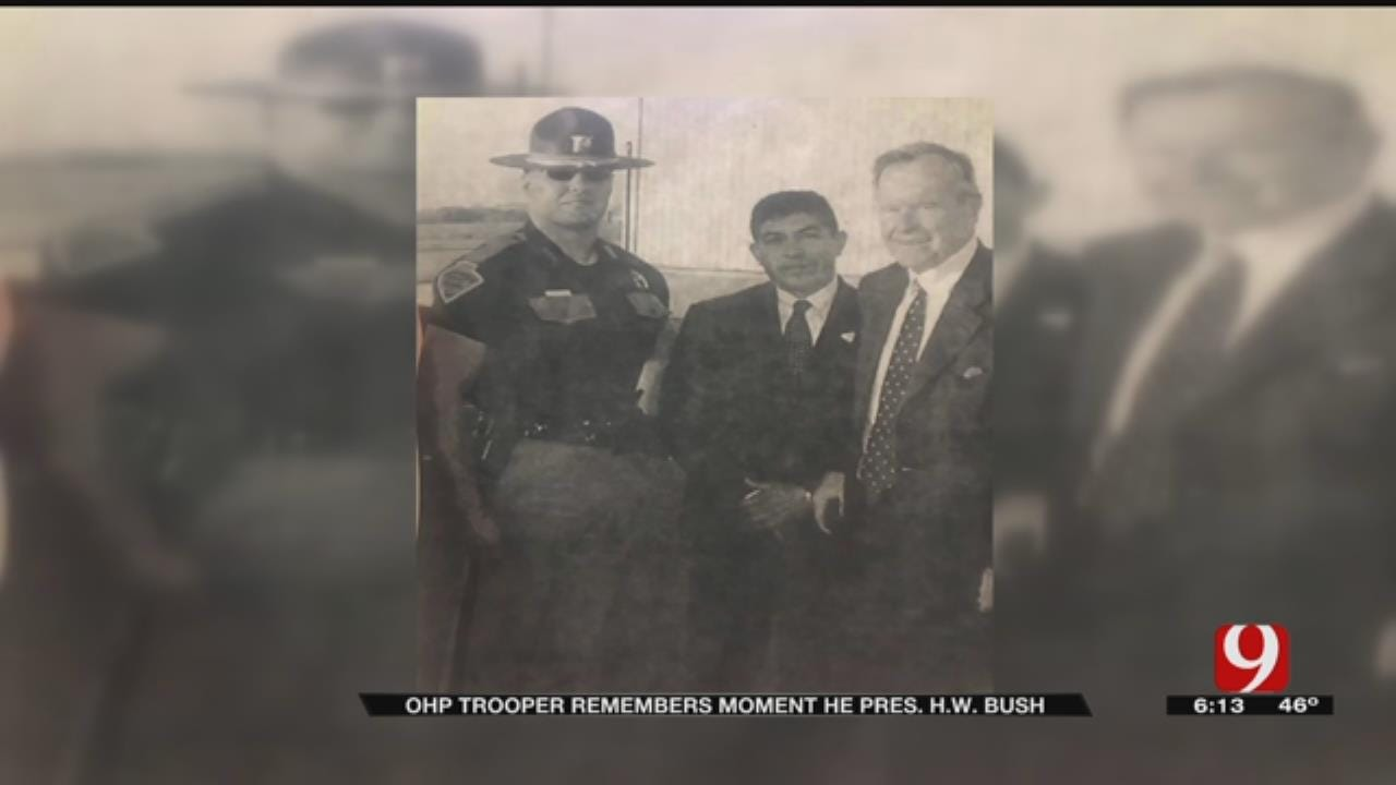 OHP Trooper Remembers Meeting George H.W. Bush
