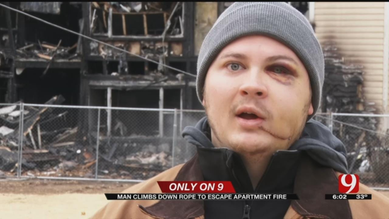 Man Recalls Frightening Escape From Norman Apartment Fire