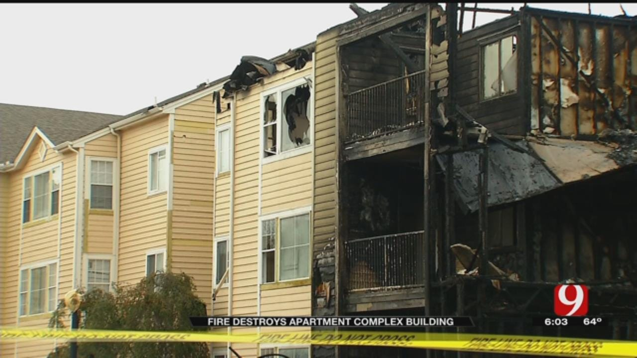 Several Tenants Displaced After Fire Destroys Norman Apartment Building