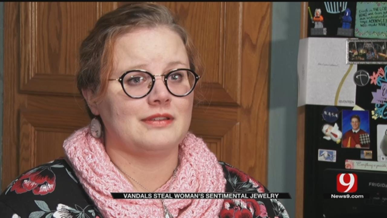 Moore Woman Makes Pleas To Public After Vandals Steal Sentimental Jewelry