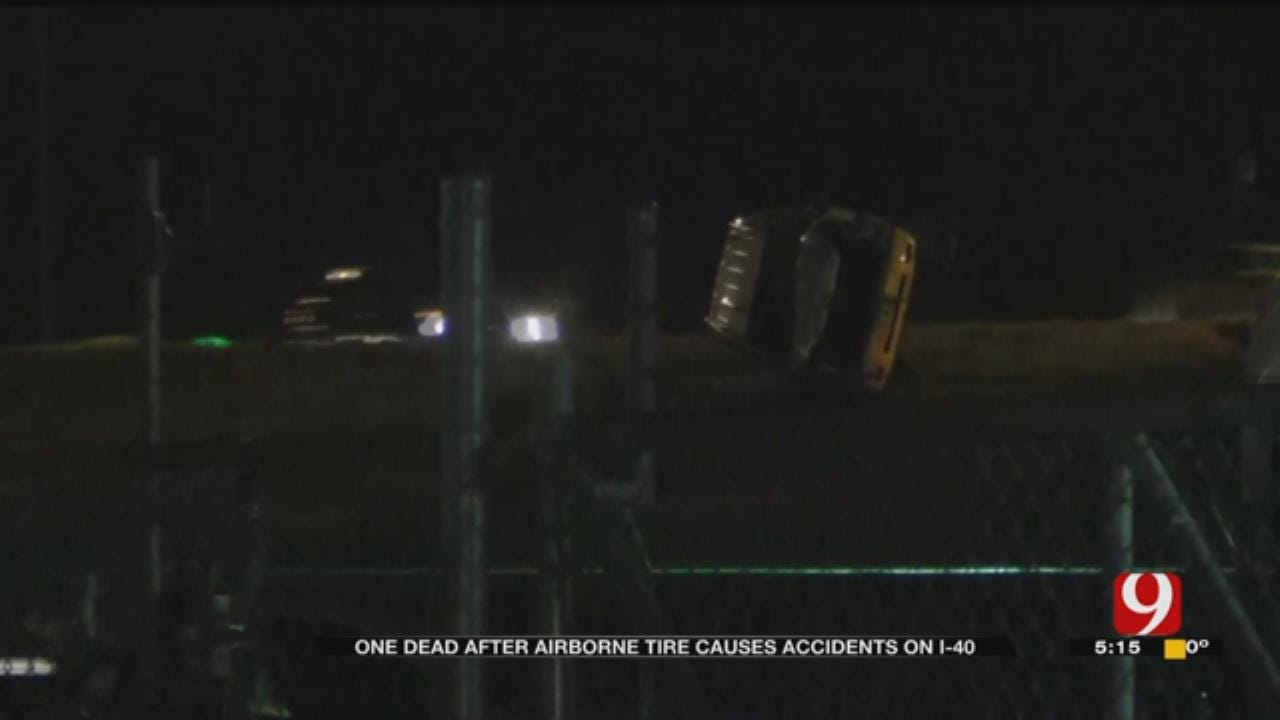 Witnesses Rush To Aide Of Woman After Semi Tire Hits Vehicle