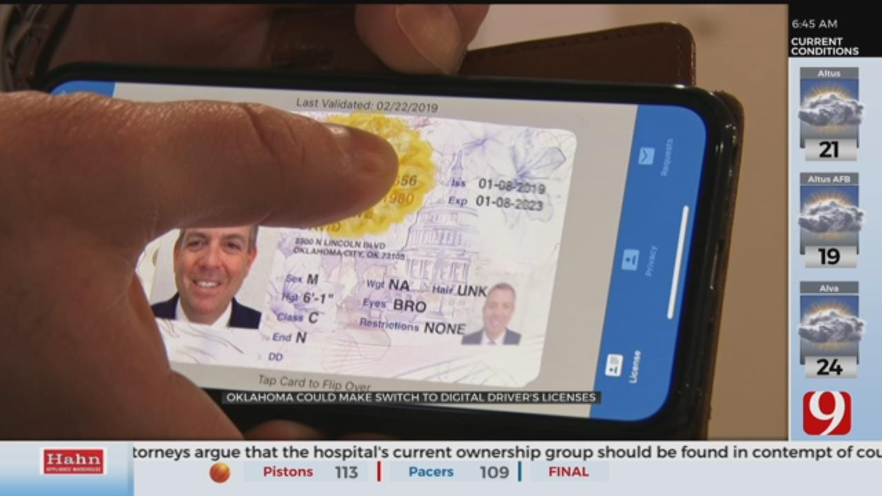 Oklahoma Could Change To Digital Driver's Licenses