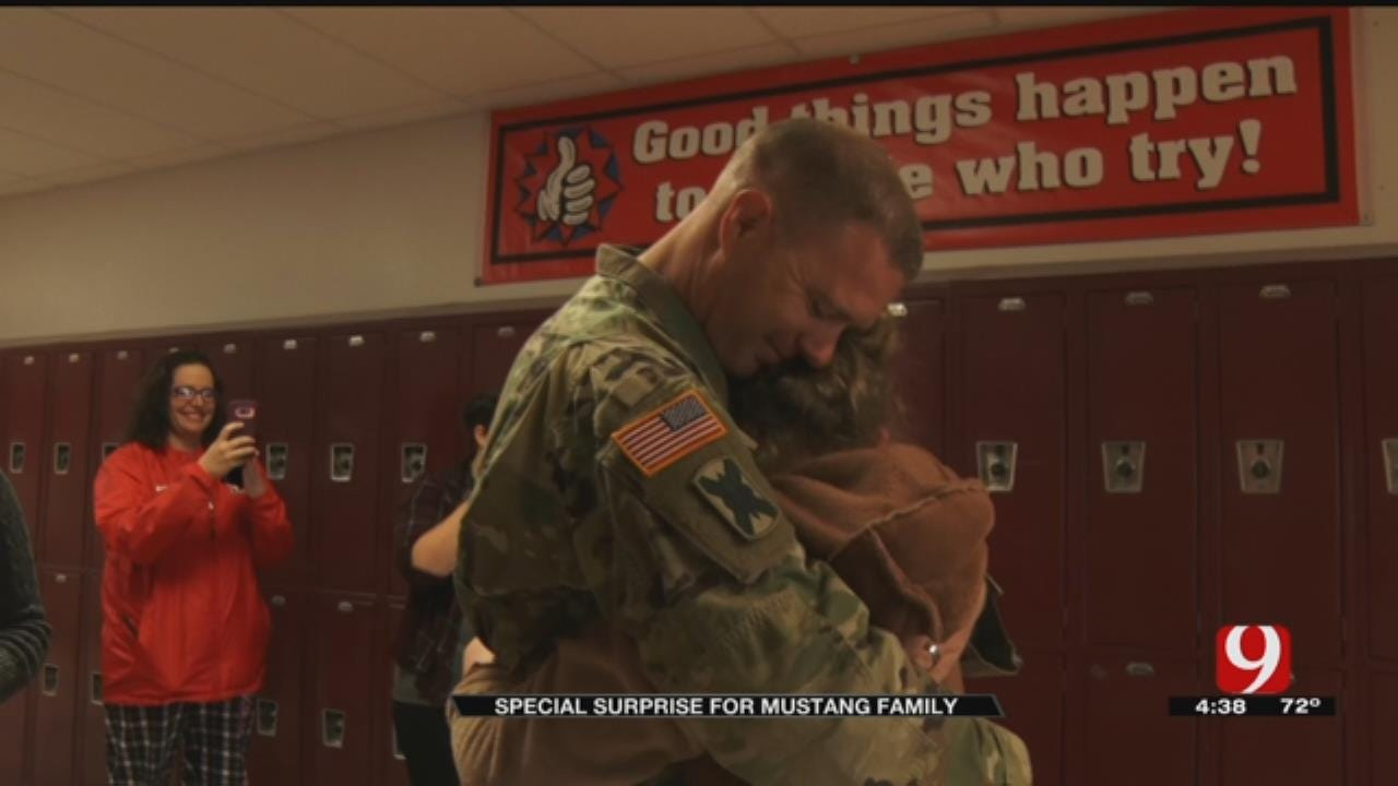 Mustang Schools Helps Father Surprise His 2 Kids