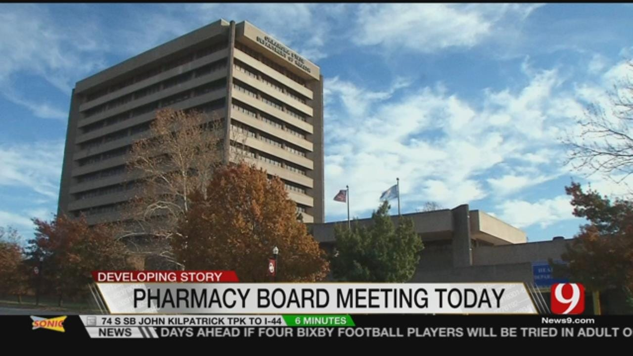 Pharmacy Board To Discuss Disciplinary Action For Executive Director