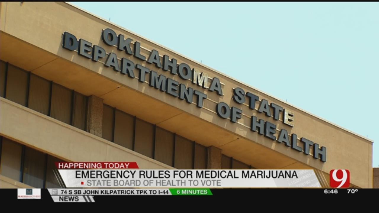 Health Officials To Consider Emergency Marijuana Regulations