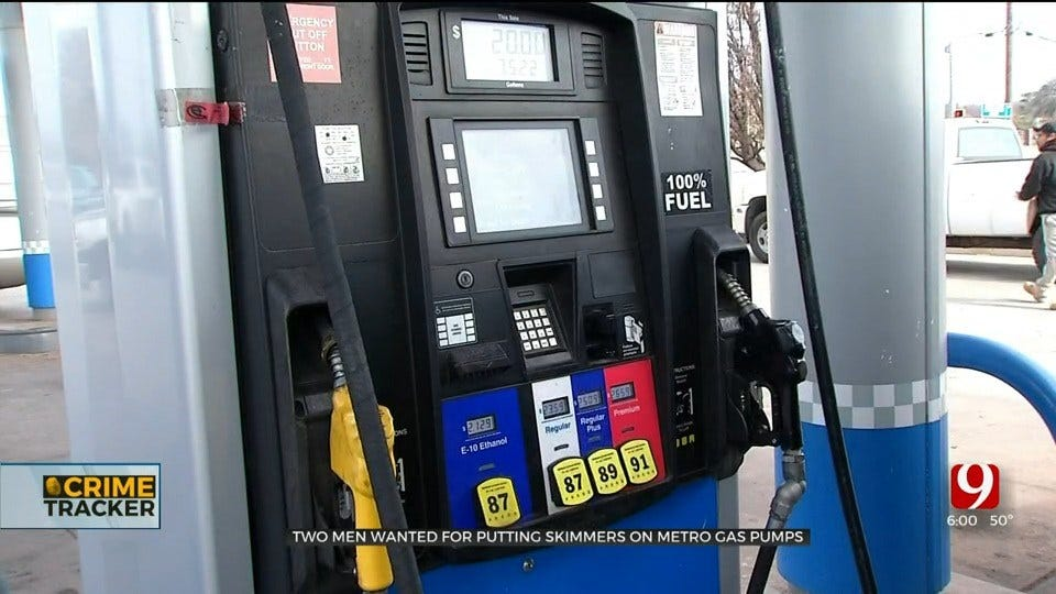 2 Men Wanted For Credit Card Skimming Activity At OKC Gas Pumps