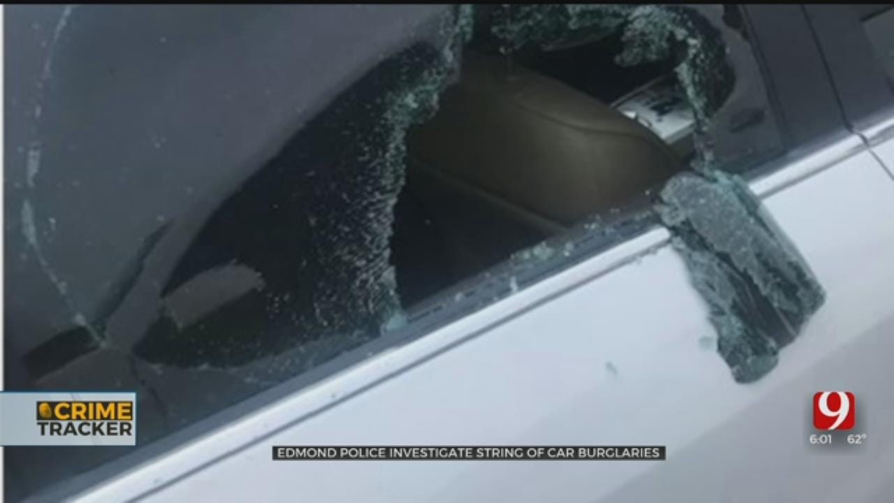 Edmond Police Investigating After 19 Smash And Grab Car Burglaries