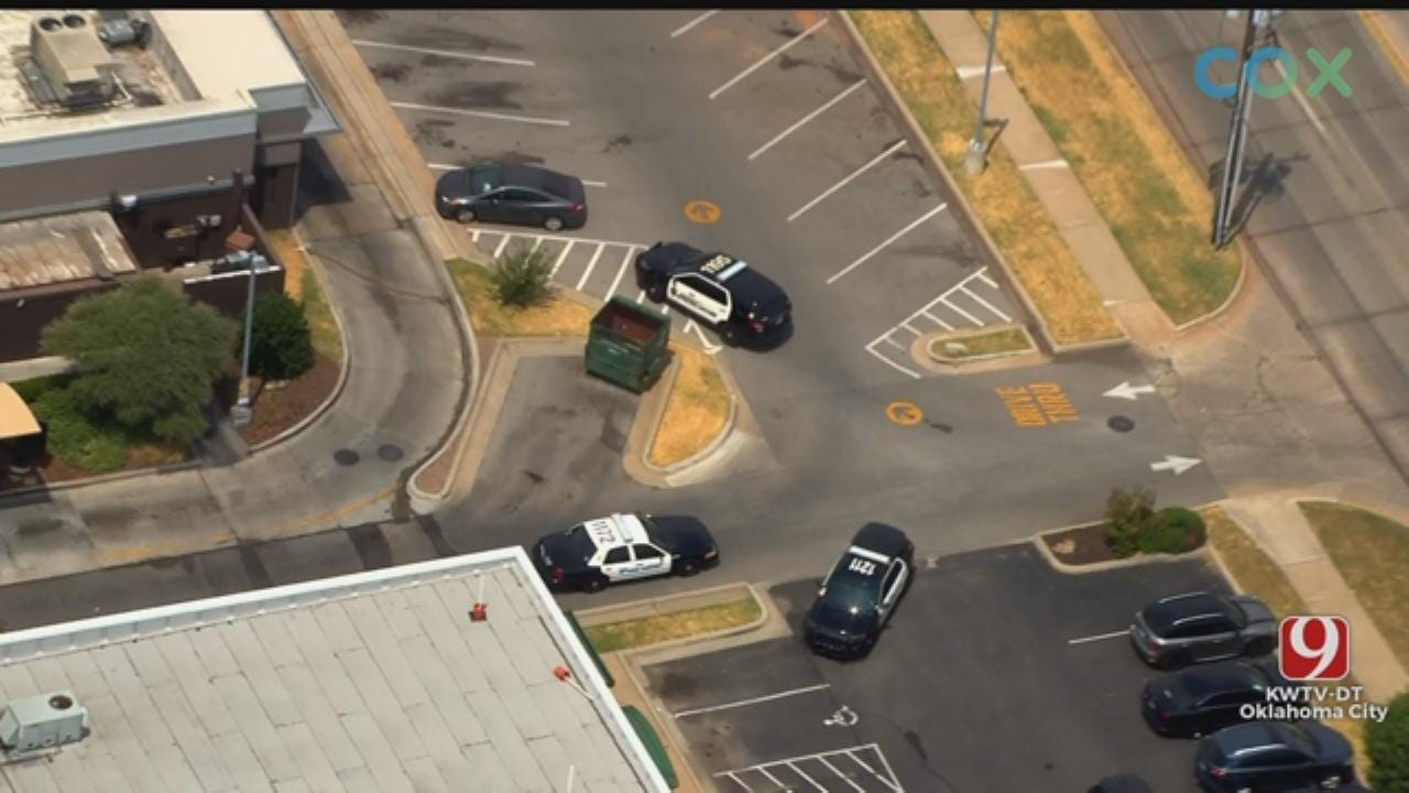 Bob Mills SkyNews 9 Flies Over Reported Stabbing At Norman McDonald's