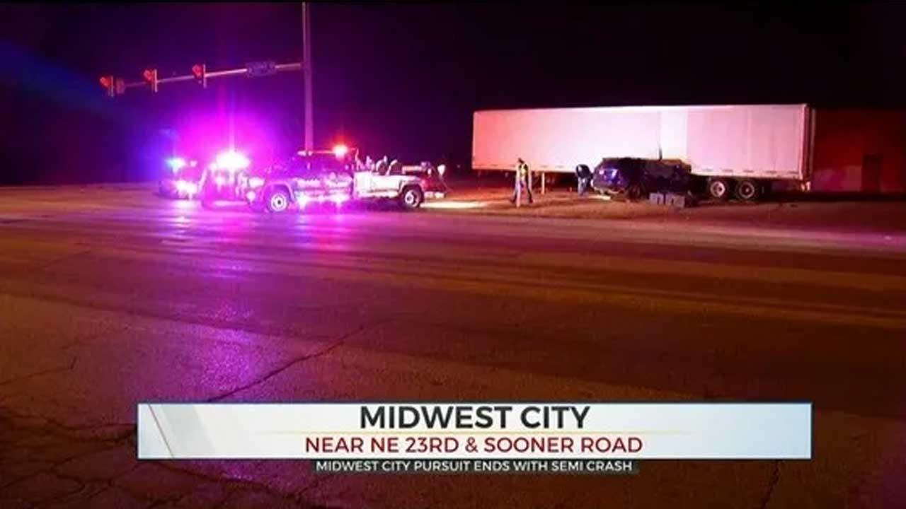 MWC Pursuit Ends In Crash Involving Semi-Truck