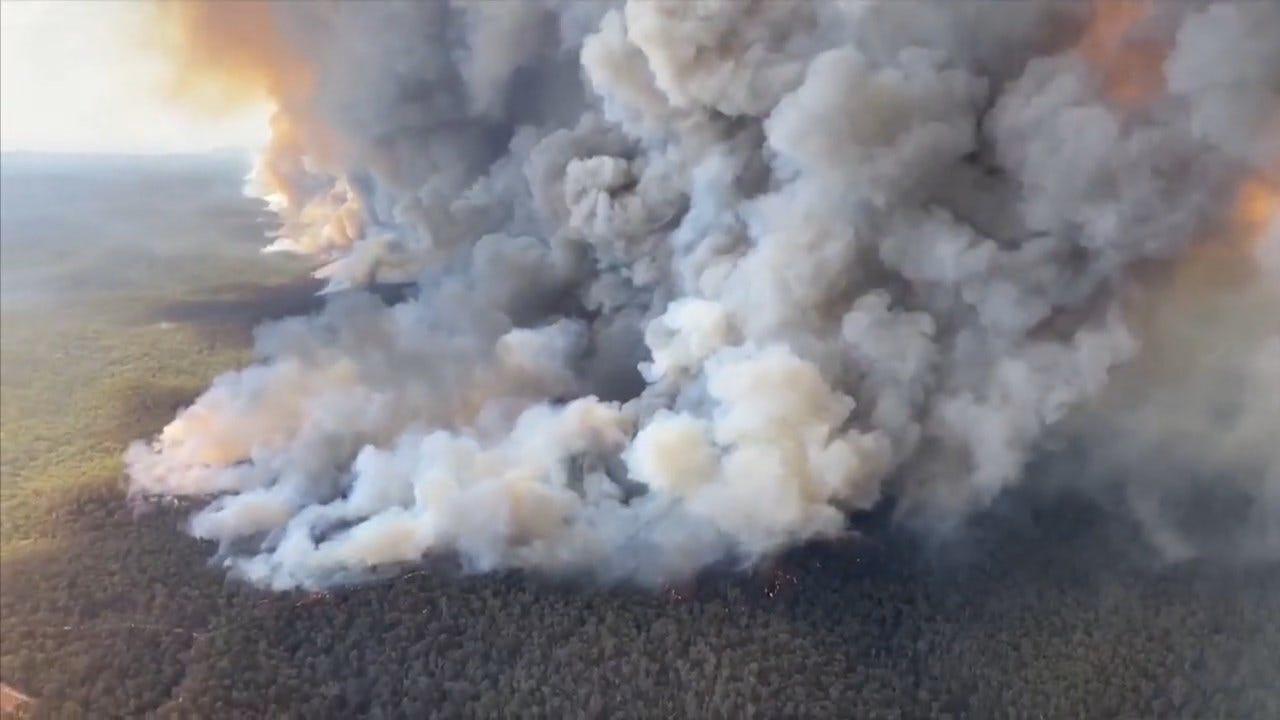 WATCH: Plumes Of Smoke From Australian Bushfires