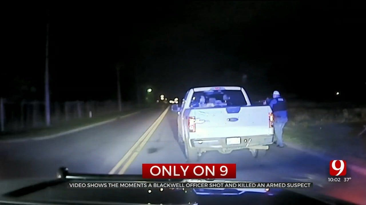 Dashcam Video Captures Blackwell Officer Unloading '60 Rounds,' Killing Suspect