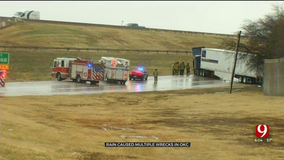 Multiple Wrecks Reported Across OKC Metro As Rain Falls