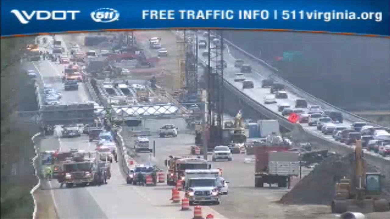 WATCH: Traffic Cam Shows Aftermath Of 69-Car Pileup On Virginia Highway