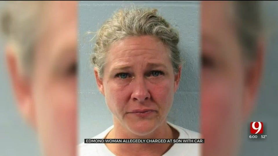 Bodycam: Edmond Mother Accused Of Trying To Run Over Son