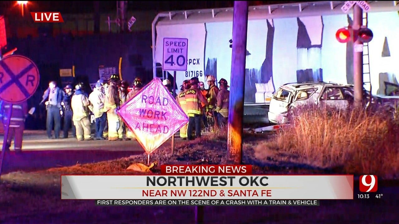 1 Critically Injured After Car Struck By Train In NW OKC