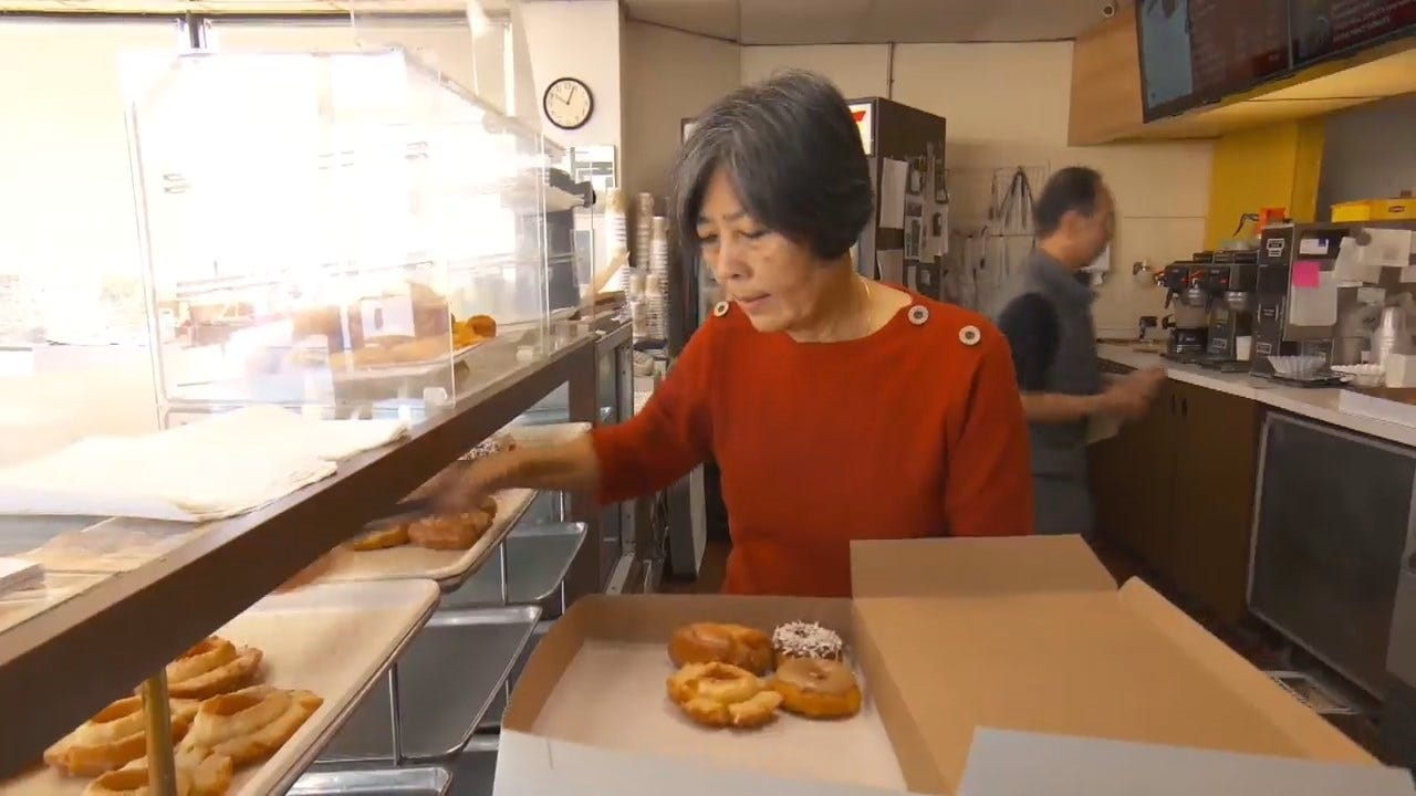 Doughnut Shop Owner Returns After Community Bought Out Store Every Day While She Was In A Coma