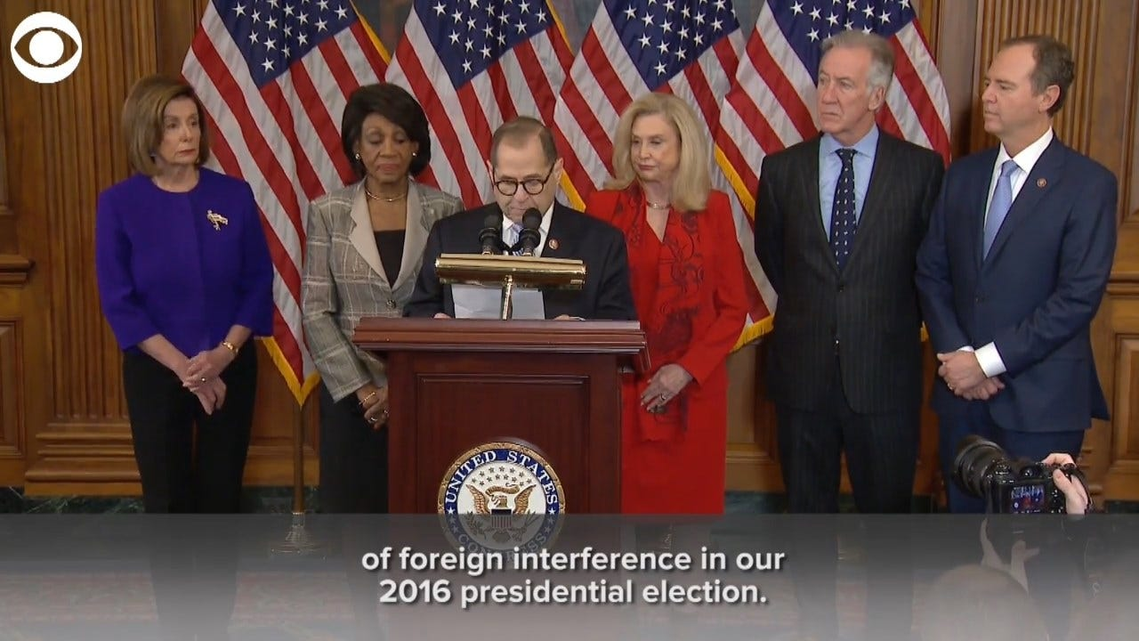 Democrats Announce Articles Of Impeachment; 'No One - Not Even The President - Is Above The Law'