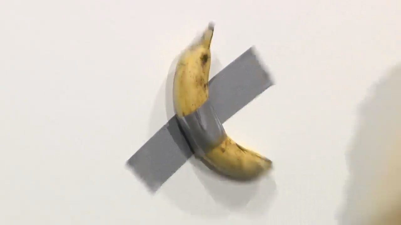 Performance Artist Eats Banana Duct-Taped To Wall That Sold For $120,000