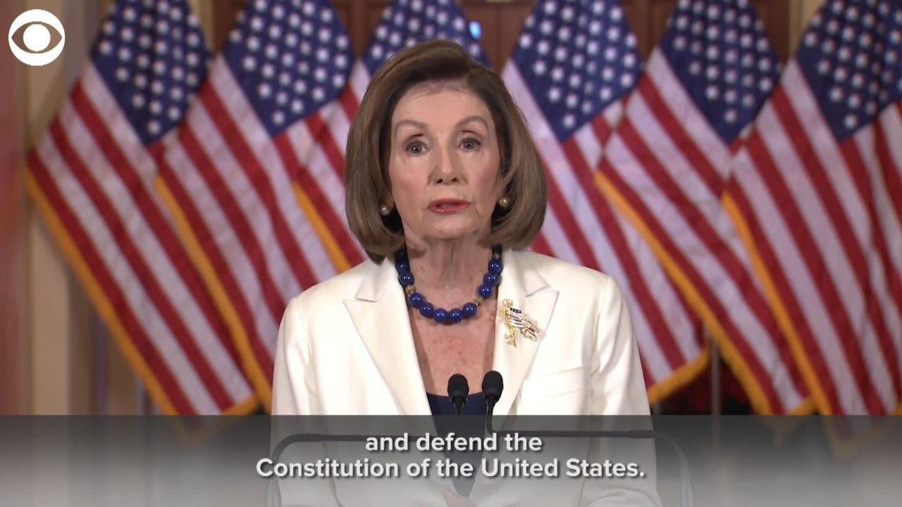 Pelosi: 'The President Leaves Us No Choice But To Act'