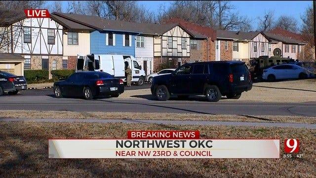 OKC Police Assist FBI With Arrest In NW OKC