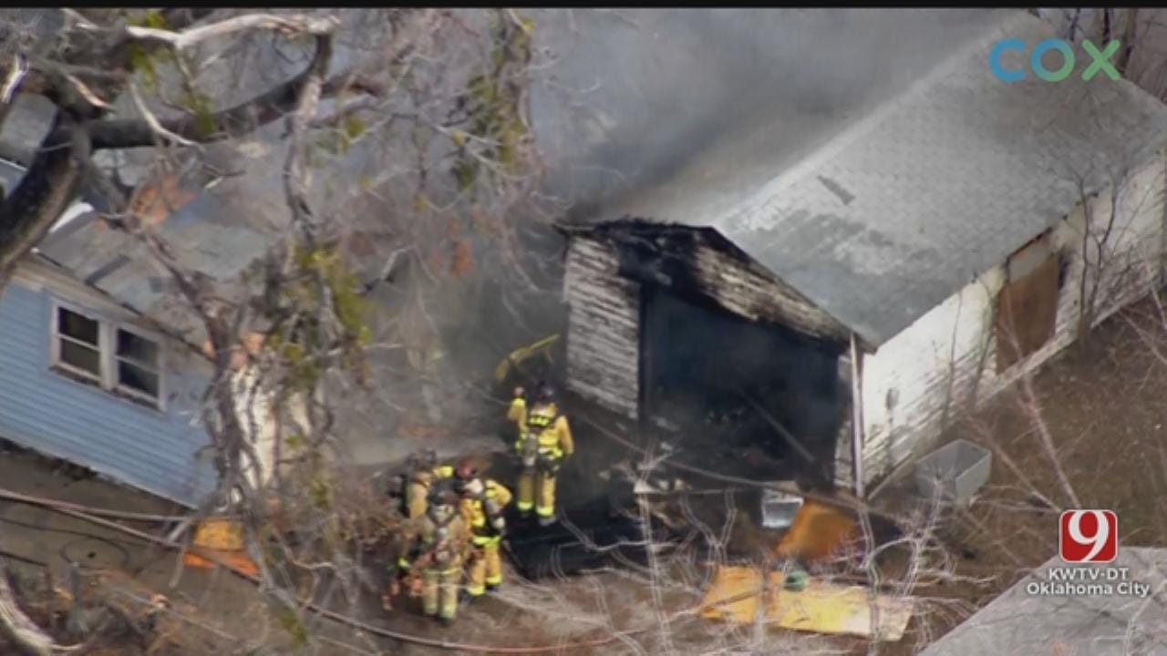 Firefighters Battle Structure Fire In NW OKC
