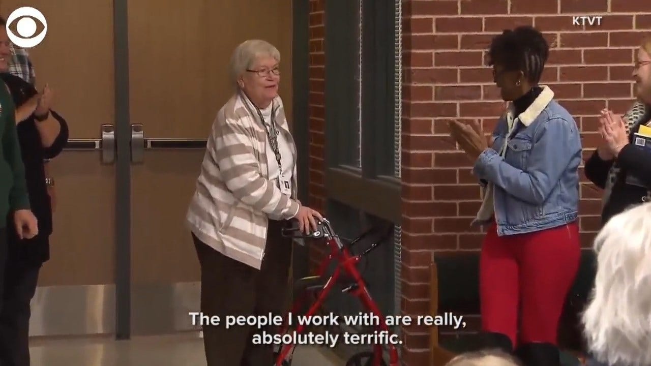 85-Year-Old Teacher Honored For Perfect Attendance