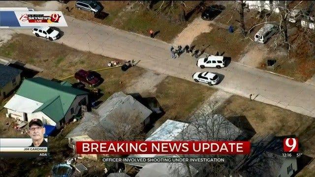 WATCH: Bob Mills SkyNews 9 Flies Over Officer-Involved Shooting In Ada, 1 Suspect Dead