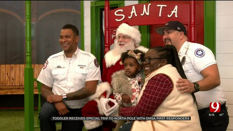 2-Year-Old With Rare Syndrome Receives Special Trip To North Pole With EMSA First Responders