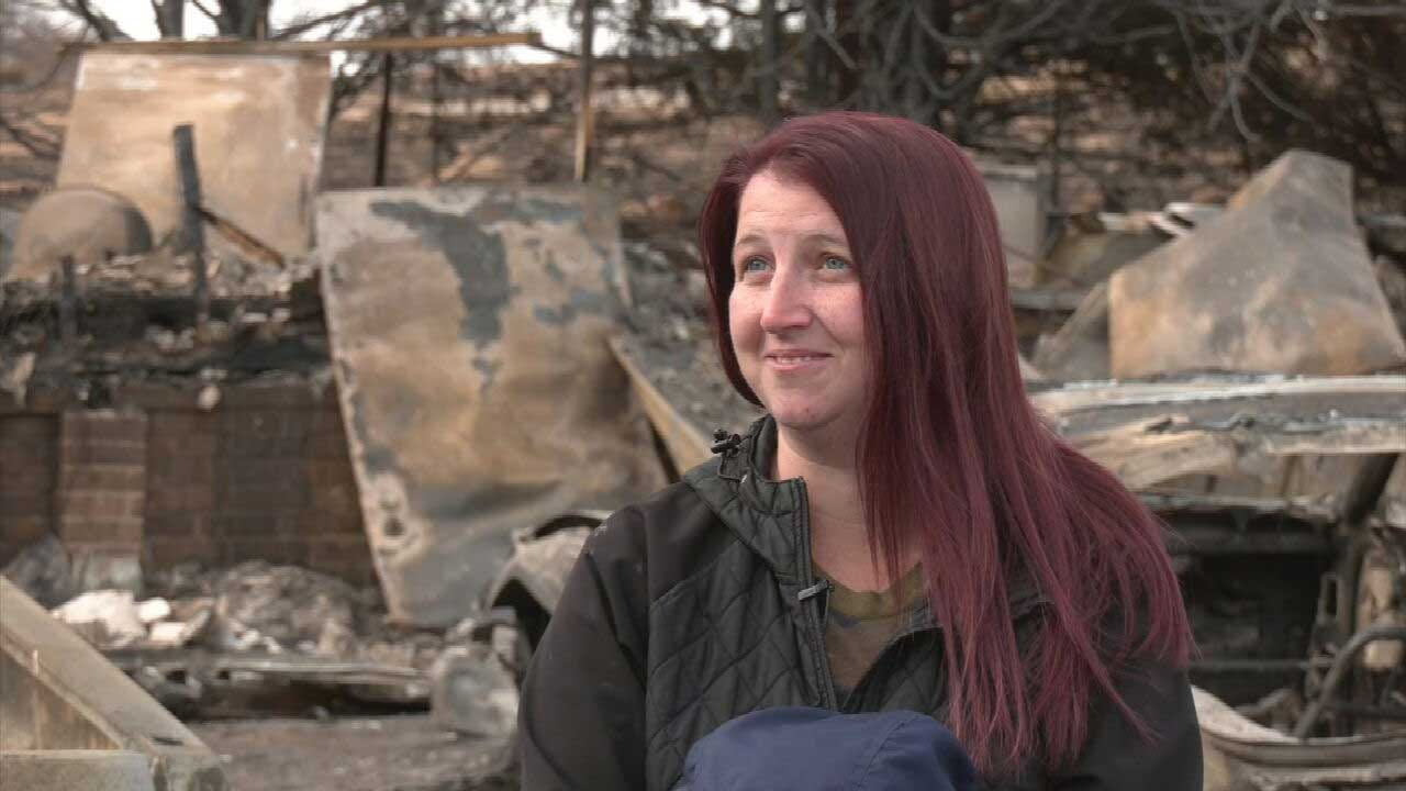 Family Reflects On Evacuating Woodward County Wildfire That Destroyed Home