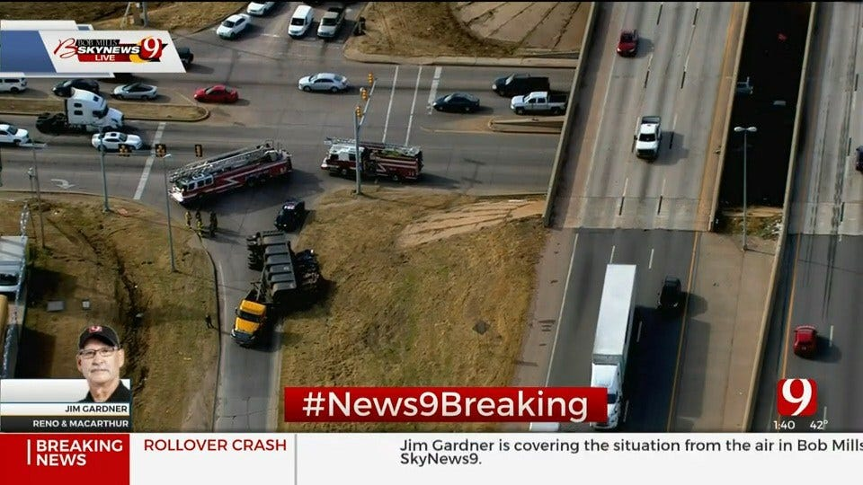 Emergency Crews Respond To Rollover Injury Accident In SW OKC