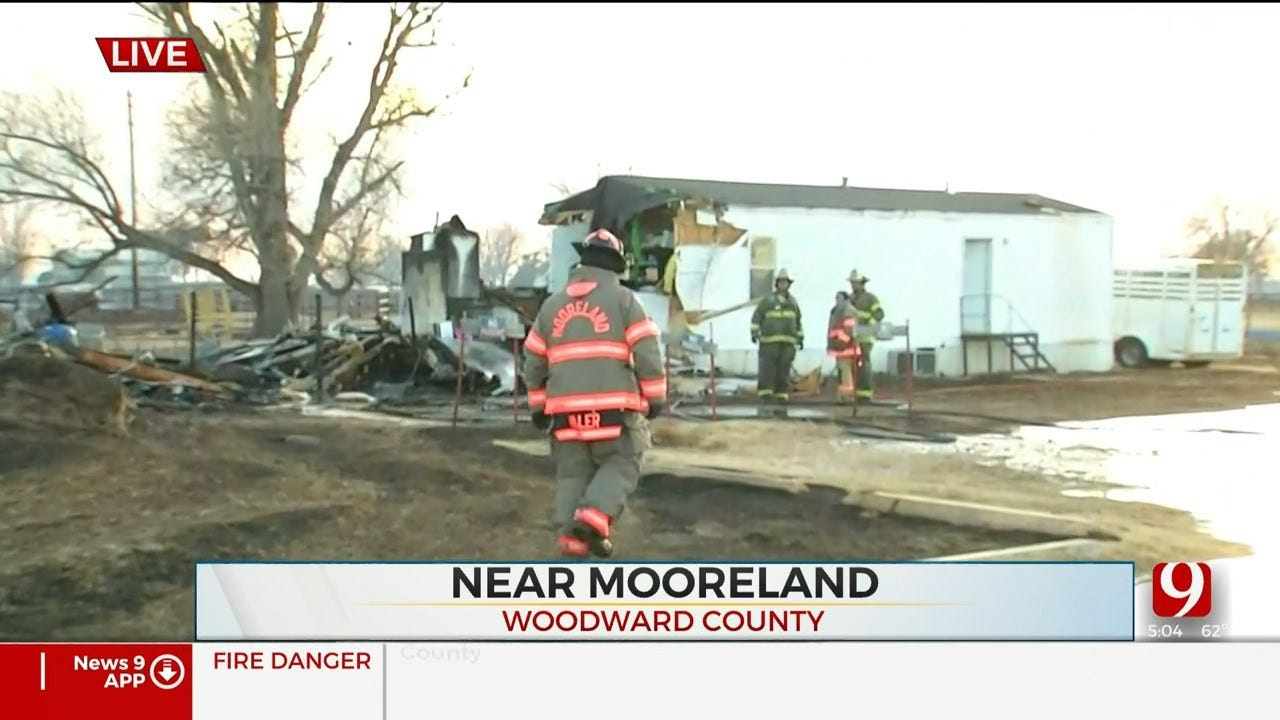 Homes Evacuated, Destroyed In Woodward County Wildfires