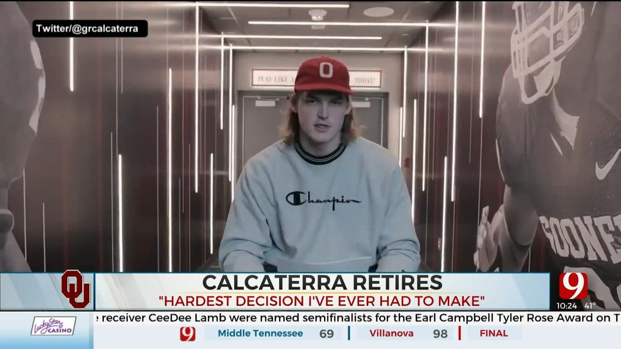 OU's Calcaterra Announces Retirement From Football