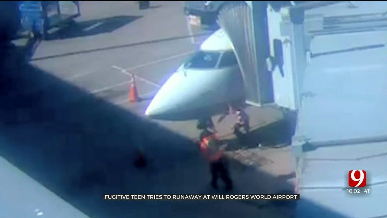 WATCH: Teen Attempts To Escape Custody, Injures Both Legs After Jumping Onto Will Rogers Tarmac