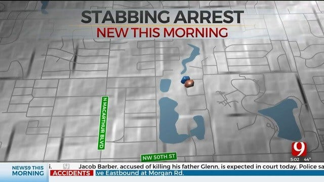 1 Arrested, 1 Taken To Hospital After Stabbing In NW OKC