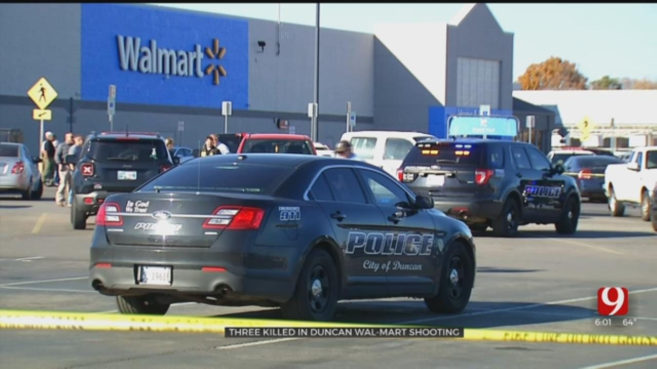 Police: Shooter, 2 Victims Found Dead In Duncan Walmart Parking Lot Believed To Have Known Each Other